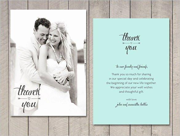 Thank You Note Wording Wedding Beautiful 18 Wedding Thank You Cards Psd Ai Vector Eps