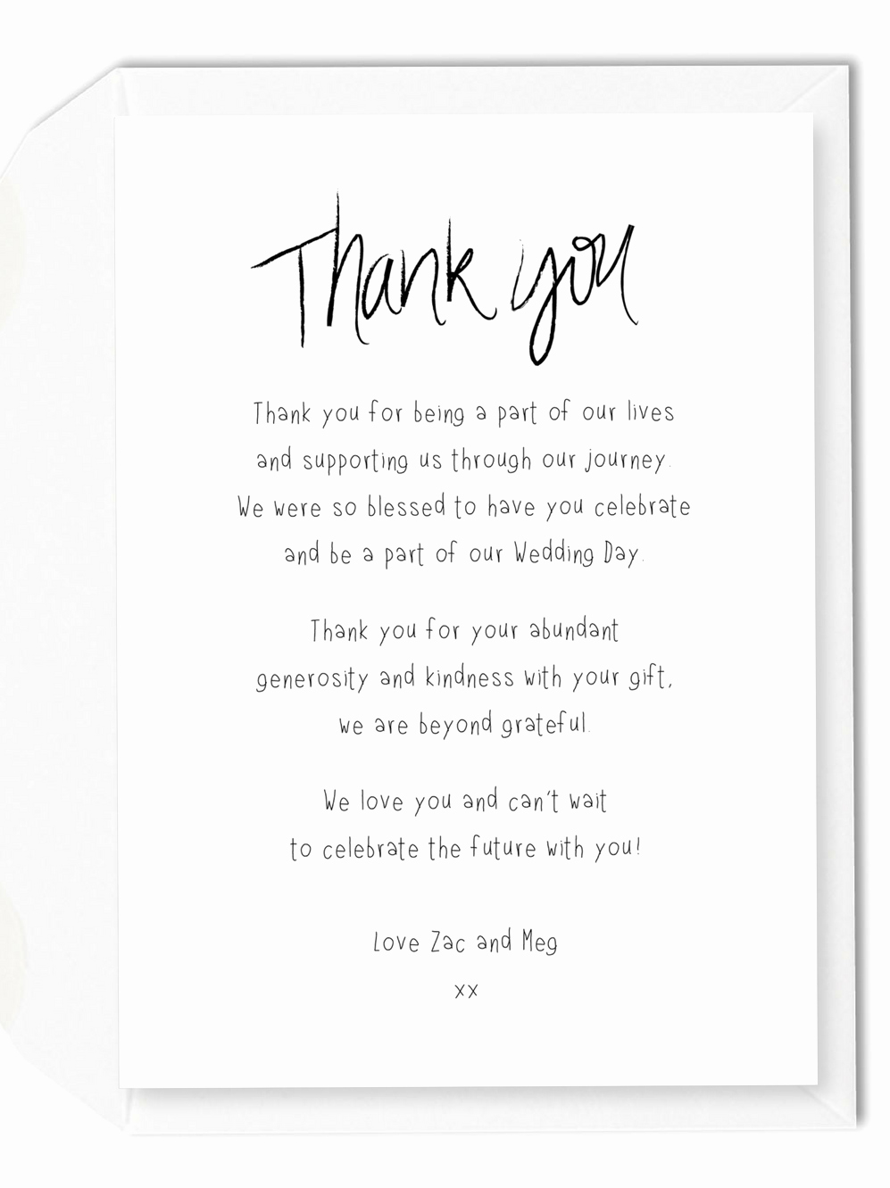 Thank You Note Wording Wedding Inspirational 5 Wording Ideas for Your Wedding Thank You Cards – for the