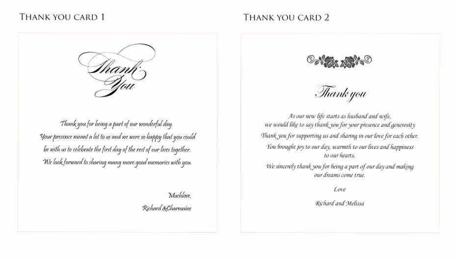 Thank You Note Wording Wedding Lovely Best Wedding Thank You Gifts