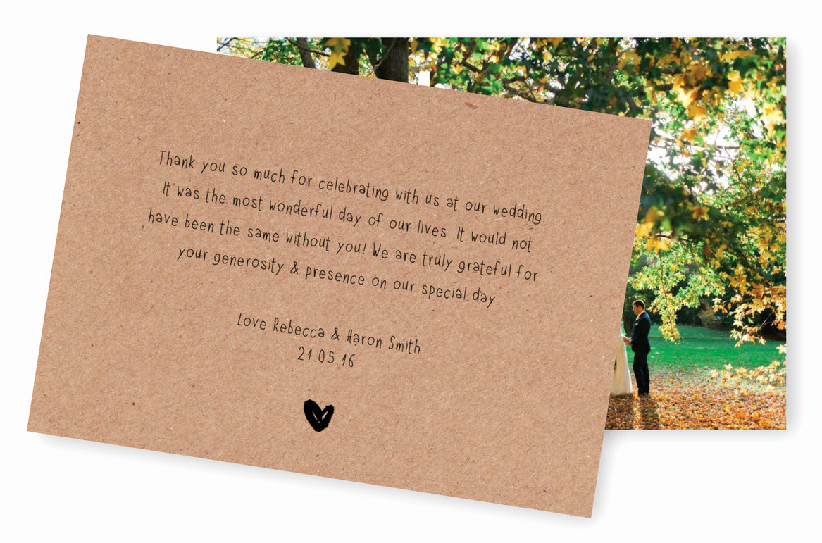 Thank You Note Wording Wedding Unique 5 Wording Ideas for Your Wedding Thank You Cards – for the