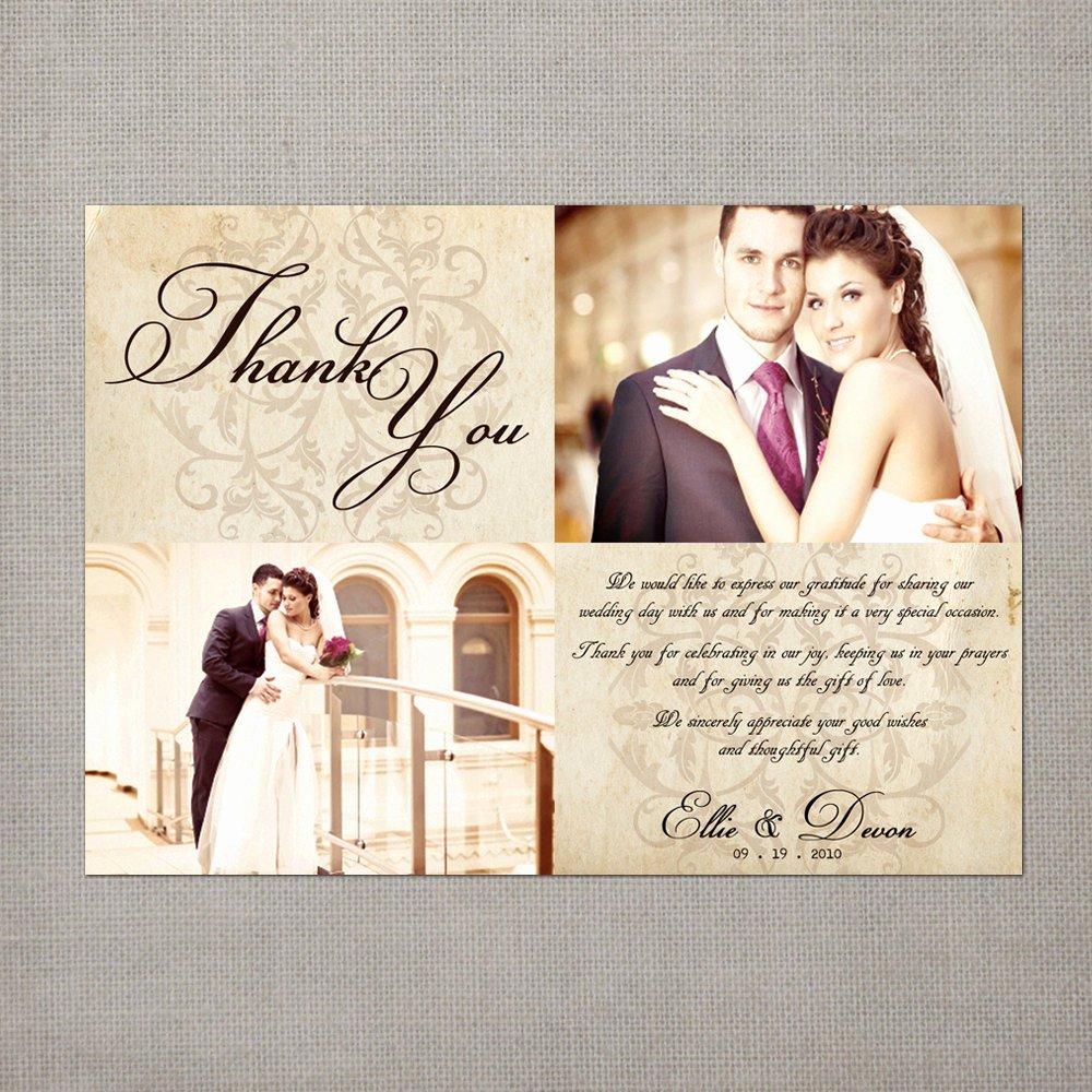 Thank You Note Wording Wedding Unique Vintage Wedding Thank You Cards 5x7 Wedding Thank You Cards