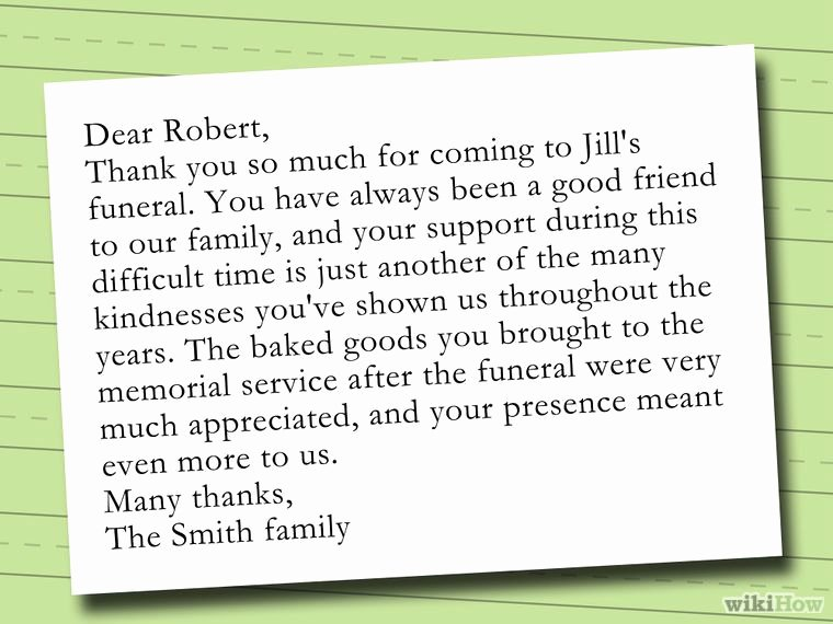 Thank You Notes for Deaths Fresh Write A Thank You Note after A Funeral Notes