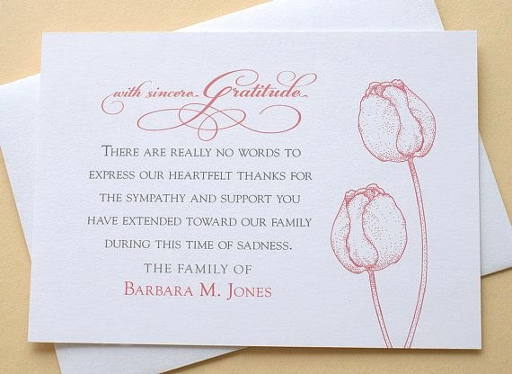 Thank You Notes for Deaths Inspirational 25 Unique Funeral Thank You Notes Ideas On Pinterest