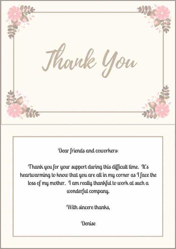 Thank You Notes for Deaths Lovely 33 Best Funeral Thank You Cards
