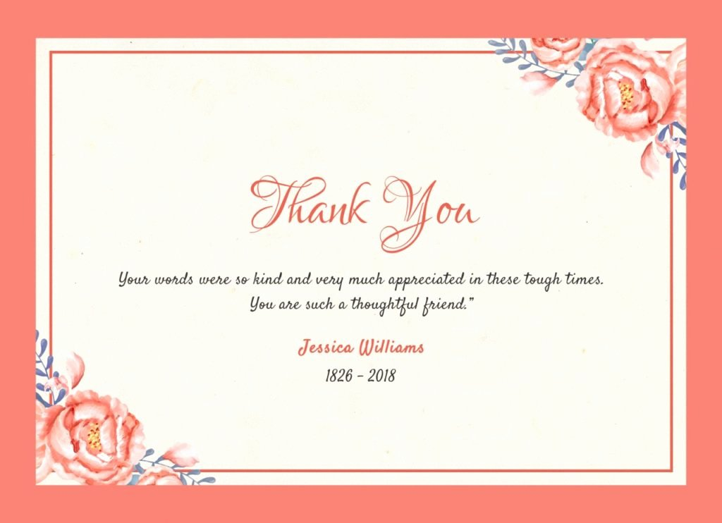 Thank You Notes for Deaths Lovely after the Funeral Thank You Notes Quincy Il Funeral