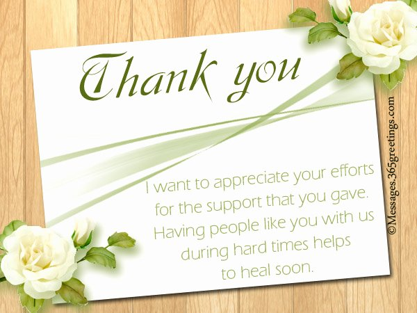 Thank You Notes for Deaths New Funeral Thank You Notes 365greetings