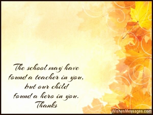 Thank You Notes for Parents Best Of Creative Thank You Note to Teacher From Parent