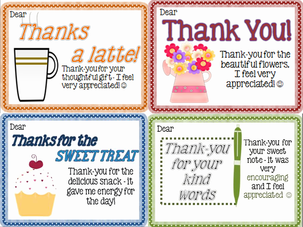 Thank You Notes for Parents Fresh Thank You Notes From Teachers to Students Freebie