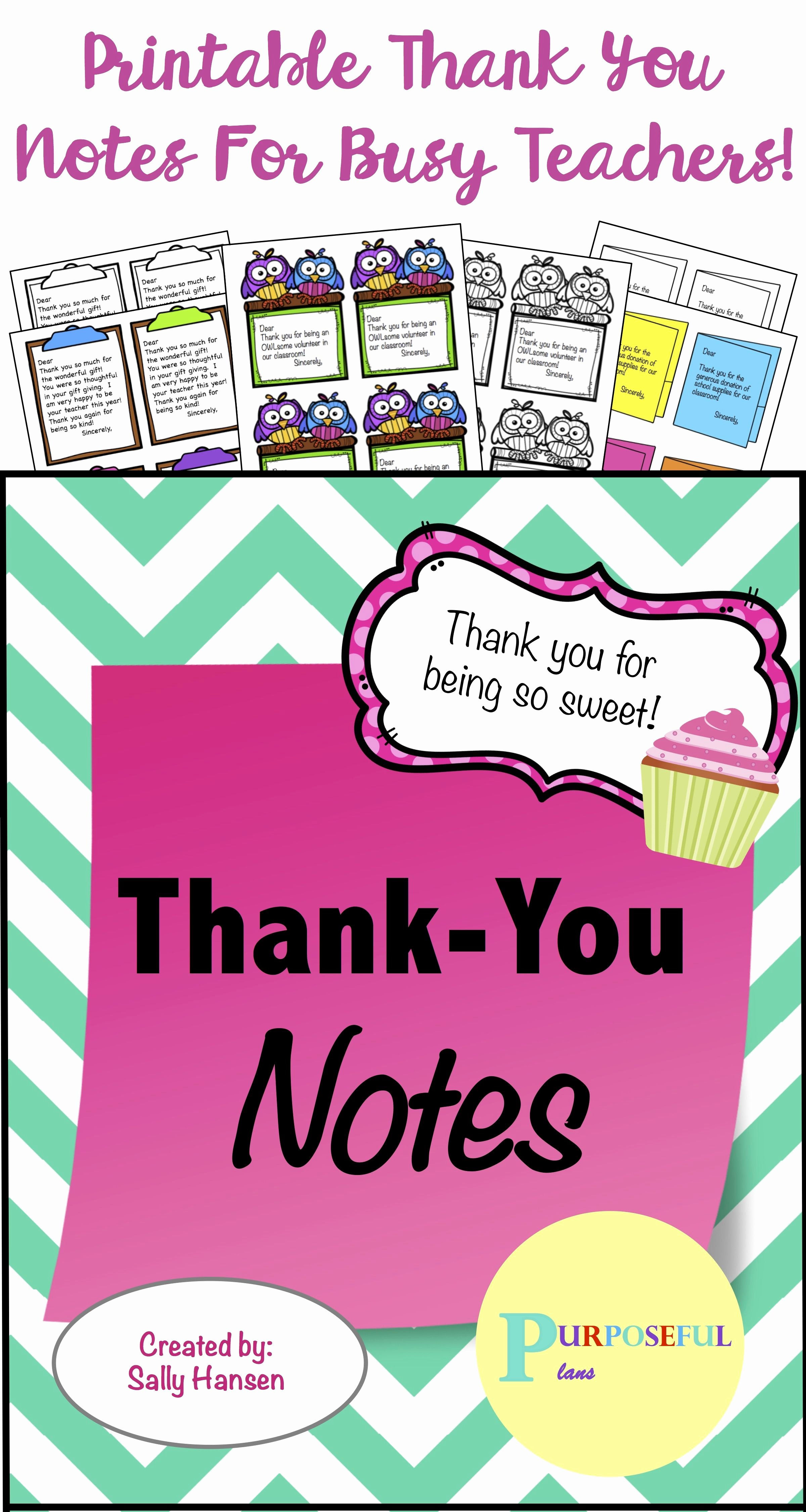 Thank You Notes for Parents Inspirational Thank You Note Super Pack From Teachers for Students