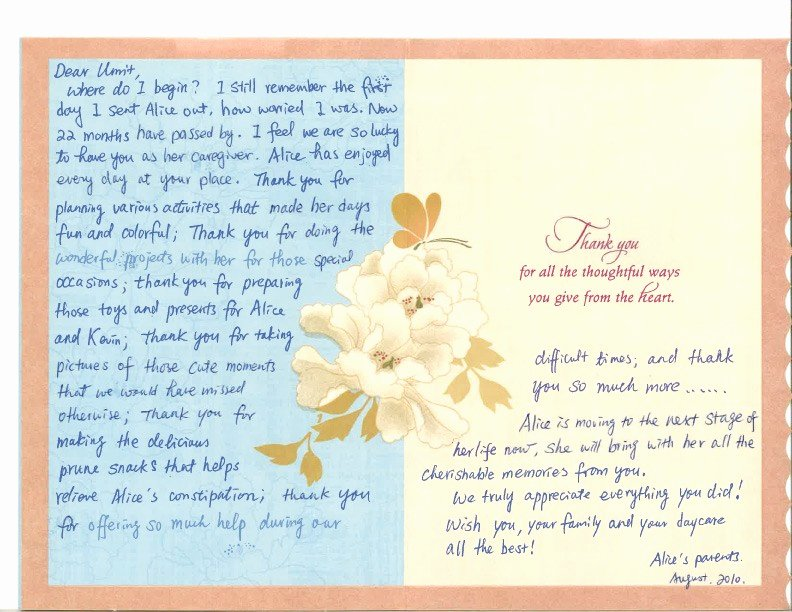 Thank You Notes for Parents Luxury Testimonials and Thank You Notes – Little Angels Family