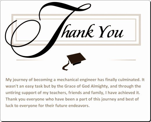 Thank You Notes for Parents Unique Sample Graduation Thank You Card Notes