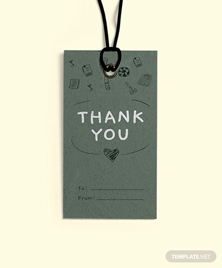 Thank You Tag Template Awesome Free Round Thank You Tag Template Download 47 Tags In
