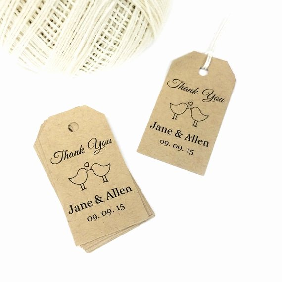 Thank You Tag Template Awesome Love Bird Tag Template Small Thank You by Crossvinedesigns
