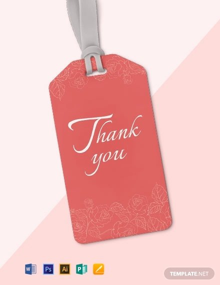 Thank You Tag Template Beautiful 14 Free Thank You Tag Templates [download Ready Made