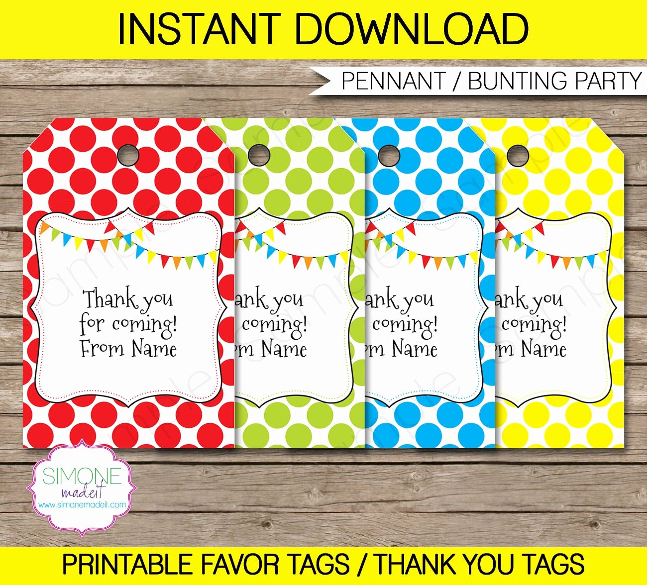 Thank You Tag Template Beautiful Editable Favor Tags Thank You Tags Birthday Party Favors