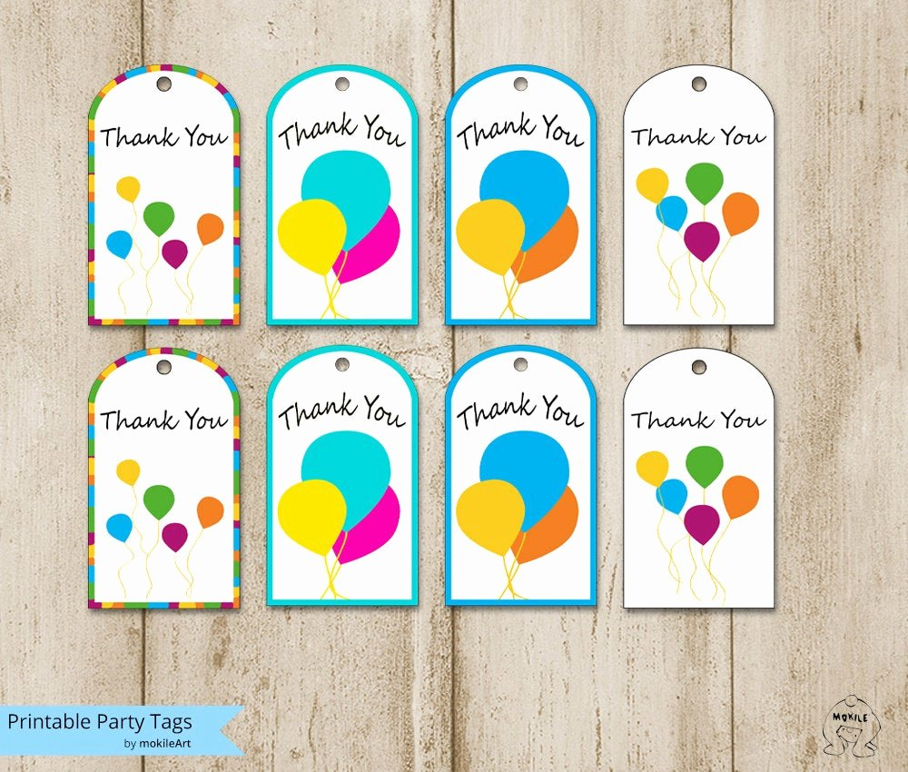 Thank You Tag Template Best Of Birthday Tags Printable Thank You Tags Templates Printable