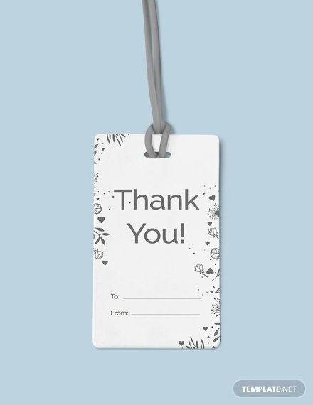Thank You Tag Template Best Of Free Thank You Hang Tag Template Download 49 Tags In Psd