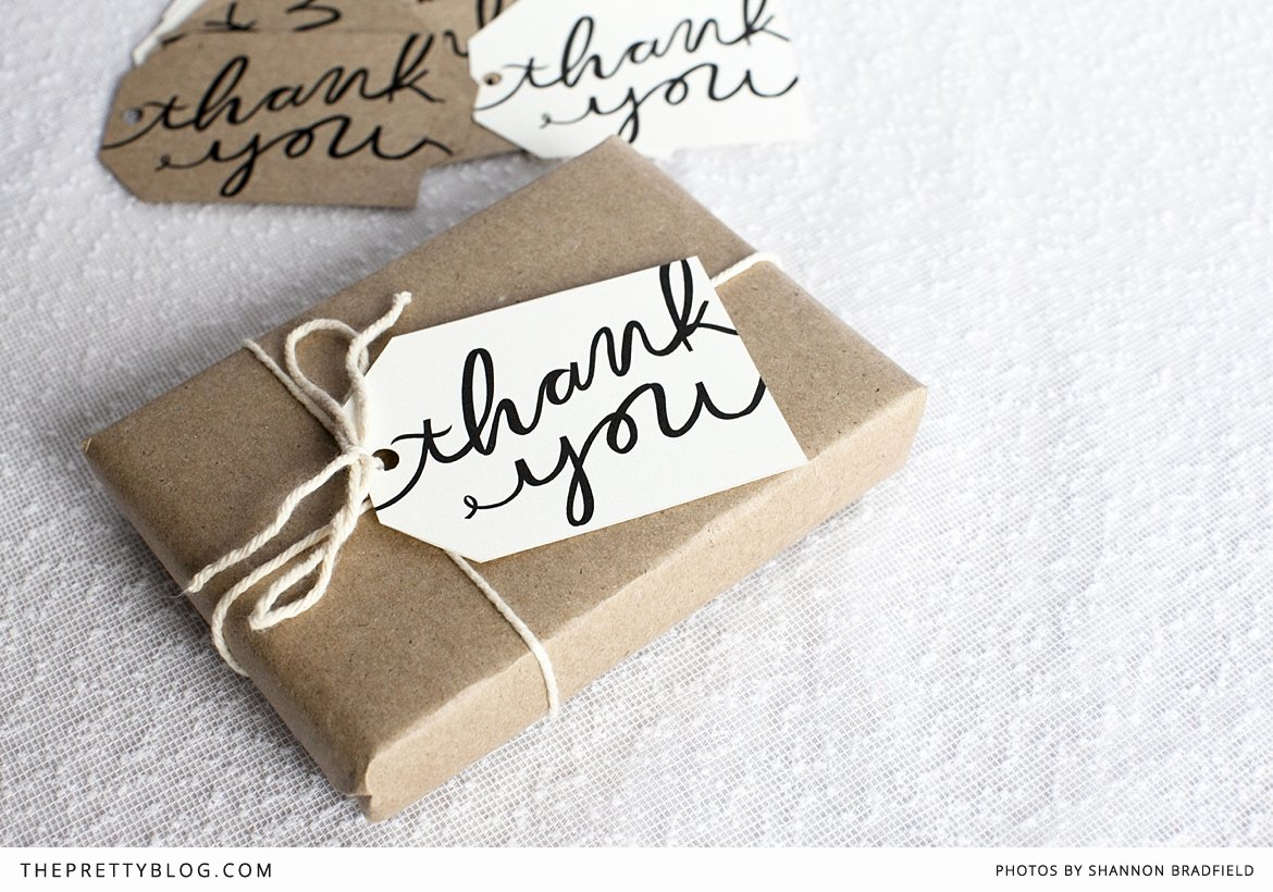 Thank You Tag Template Luxury Fabulous Chic Free Printables