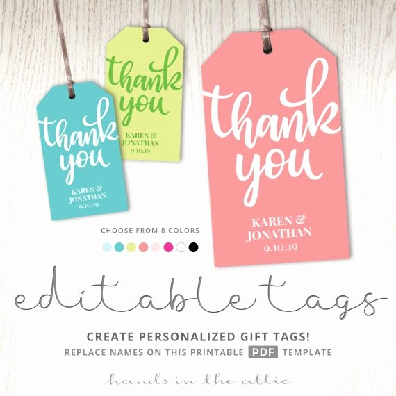 Thank You Tag Template Luxury Thank You T Tag Template Tags Printable Party Favor Tags