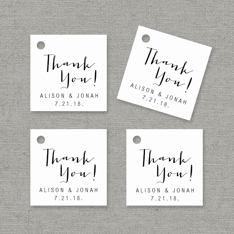 Thank You Tag Template New Thank You Tag Template Printable Wedding Favor Tags