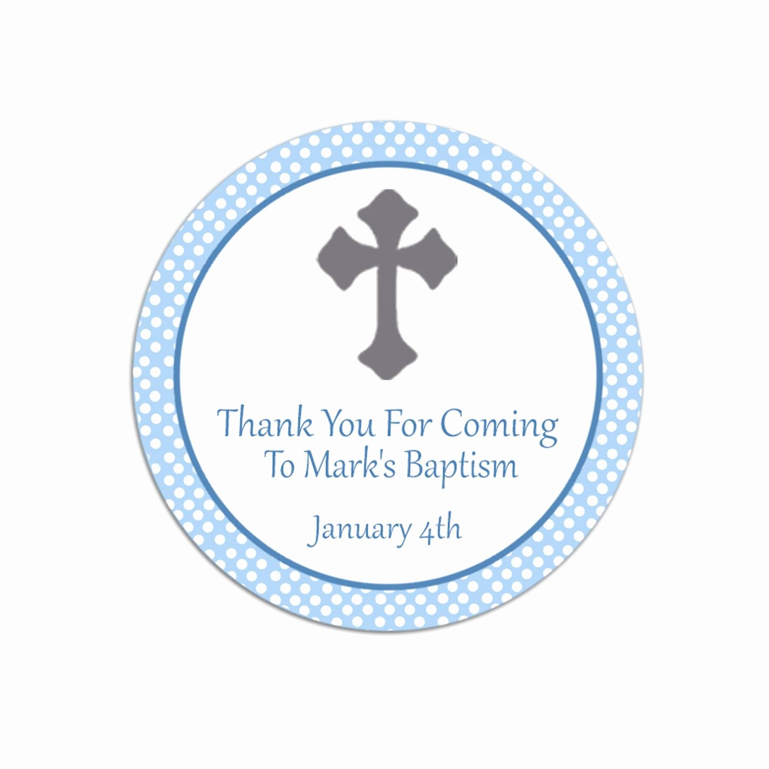 Thank You Tag Template Unique Baptism Thank You Favor Tags Template Free