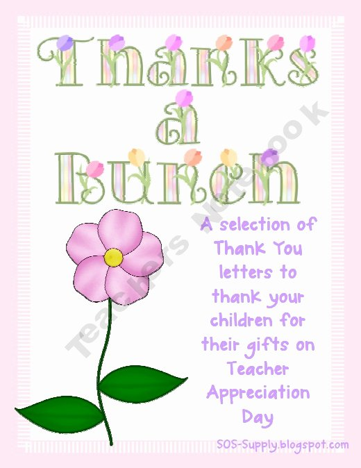 Thank You Teacher Notes Awesome 214 Best Images About Teacher T Ideas On Pinterest