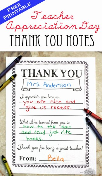 Thank You Teacher Notes Beautiful Teacher Appreciation Day Printable Thank You Notes