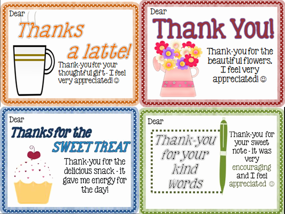 Thank You Teacher Notes Best Of Thank You Notes From Teachers to Students Freebie Joy
