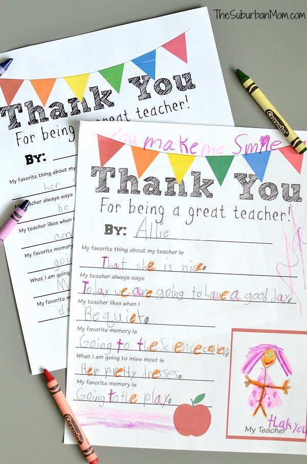 Thank You Teacher Notes Inspirational Thank You Teacher Free Printable