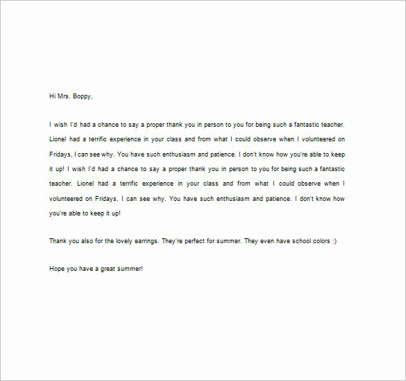 Thank You Teacher Notes Luxury Thank You Notes for Teacher – 8 Free Word Excel Pdf