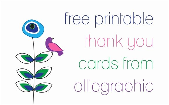 Thank You Template Free Fresh 11 Printable Thank You Card Templates Psd Ai