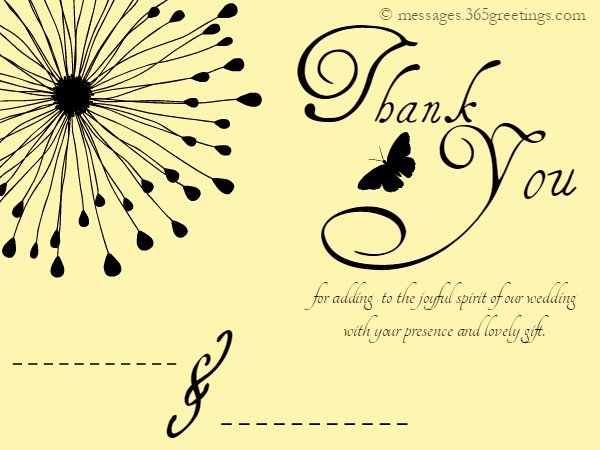 Thank You Template Free Inspirational Wedding Thank You Messages 365greetings