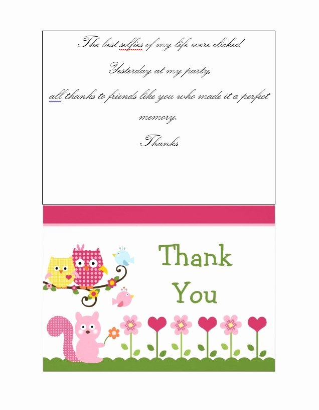 Thank You Template Free Lovely 30 Free Printable Thank You Card Templates Wedding