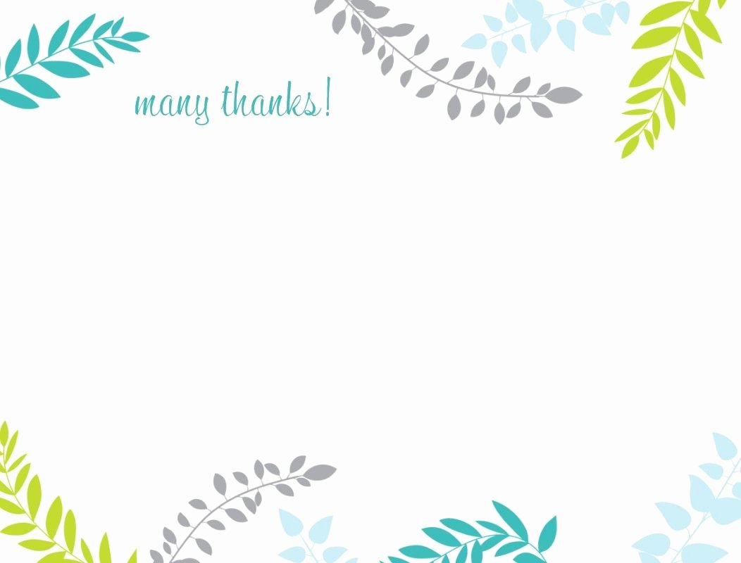 Thank You Template Free Luxury Printable Thank You Card Template