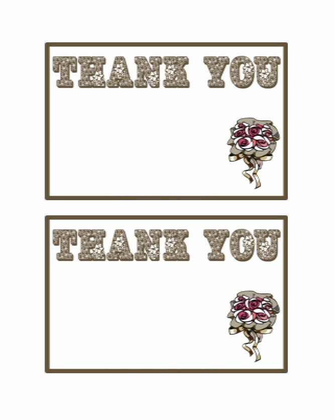Thank You Template Free New 30 Free Printable Thank You Card Templates Wedding