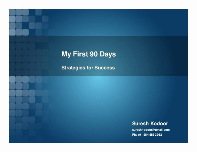 The First 90 Days Template Elegant My First 90 Days Strategies for Success