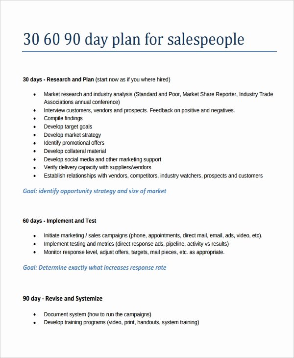 The First 90 Days Template Lovely 22 30 60 90 Day Action Plan Templates Free Pdf Word