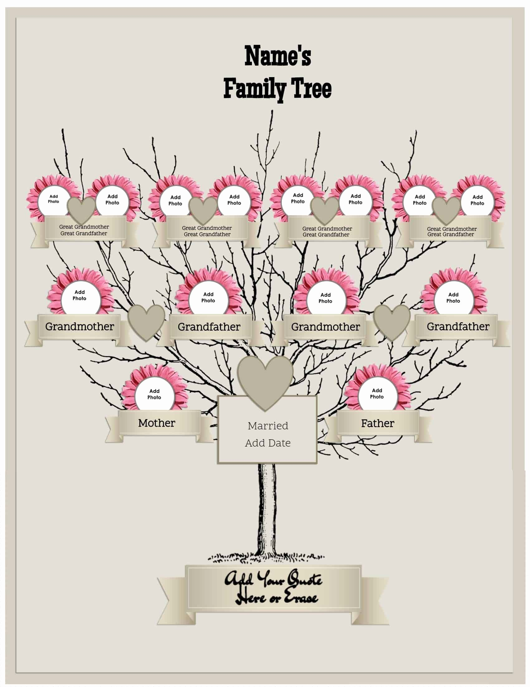 Three Generation Family Tree Elegant 3 Generation Family Tree Generator