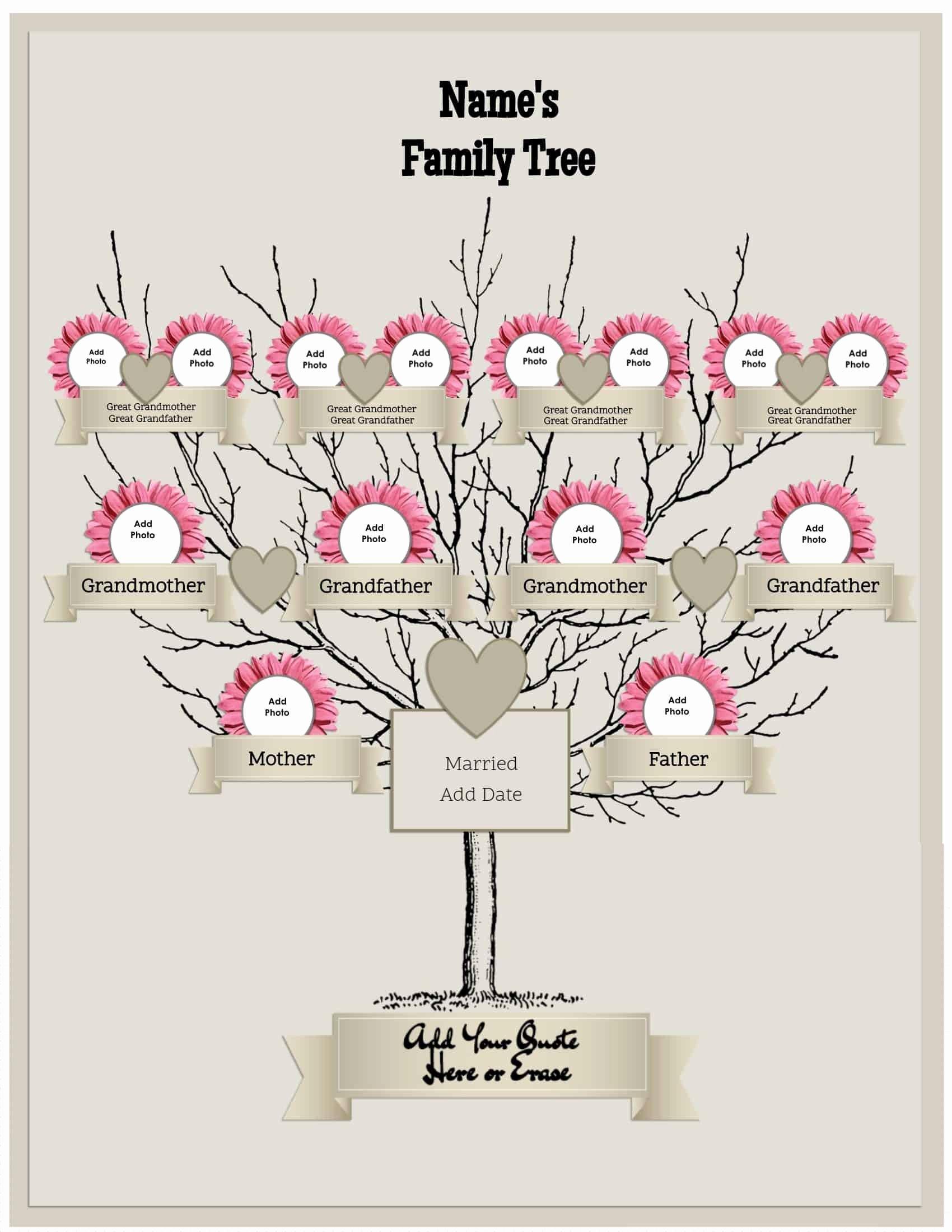 Three Generation Family Tree Elegant 3 Generation Family Tree Generator