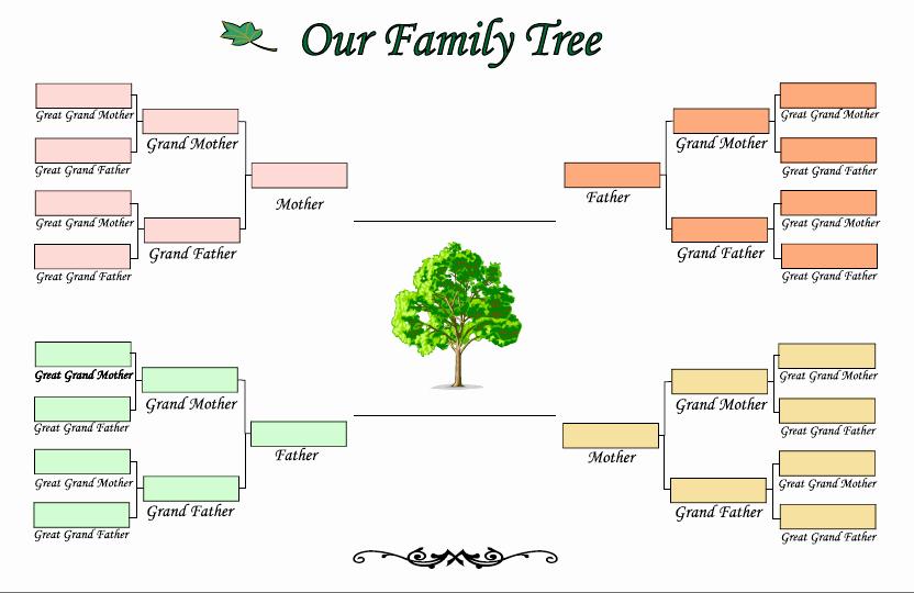 Three Generation Family Tree Inspirational Family Tree Template 5 Generations Free software Free
