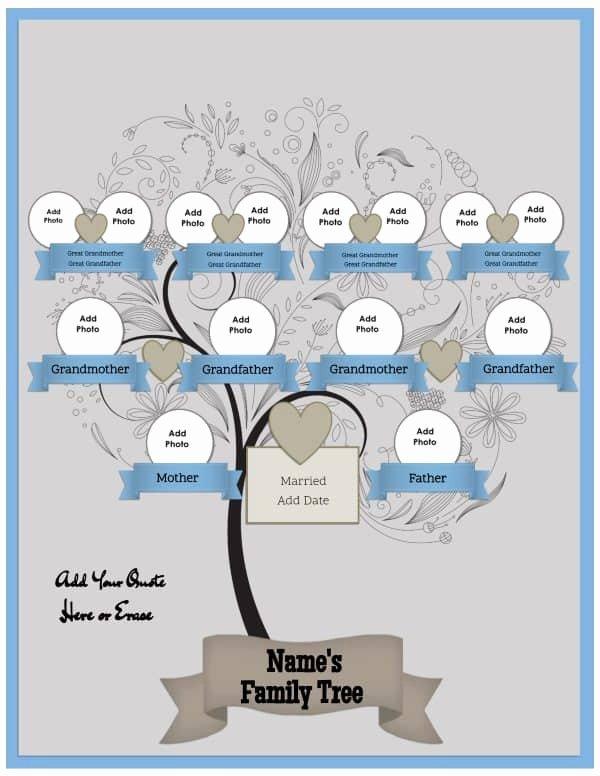 Three Generation Family Tree Lovely 3 Generation Family Tree Generator