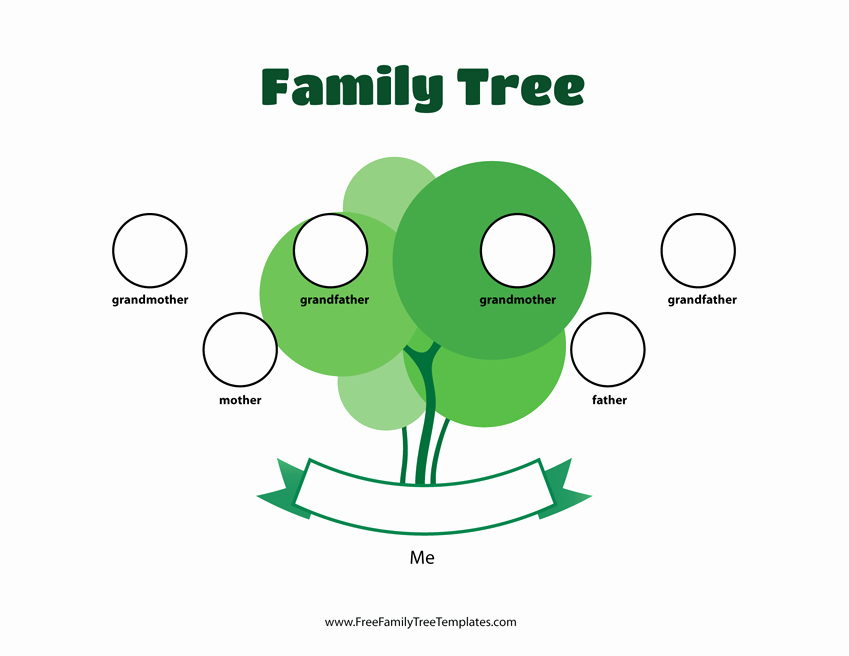 Three Generation Family Tree New 3 Generation Family Tree Template – Free Family Tree Templates