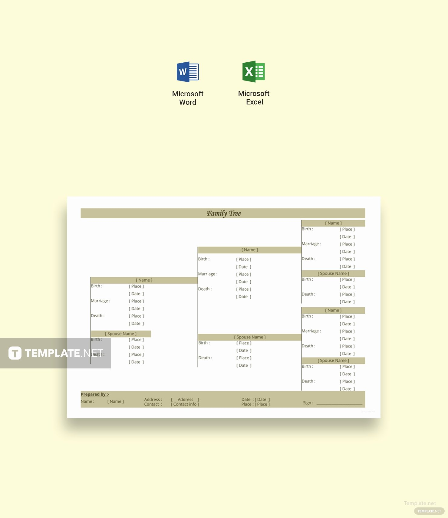 Three Generation Family Tree New Three Generation Family Tree Template In Microsoft Word