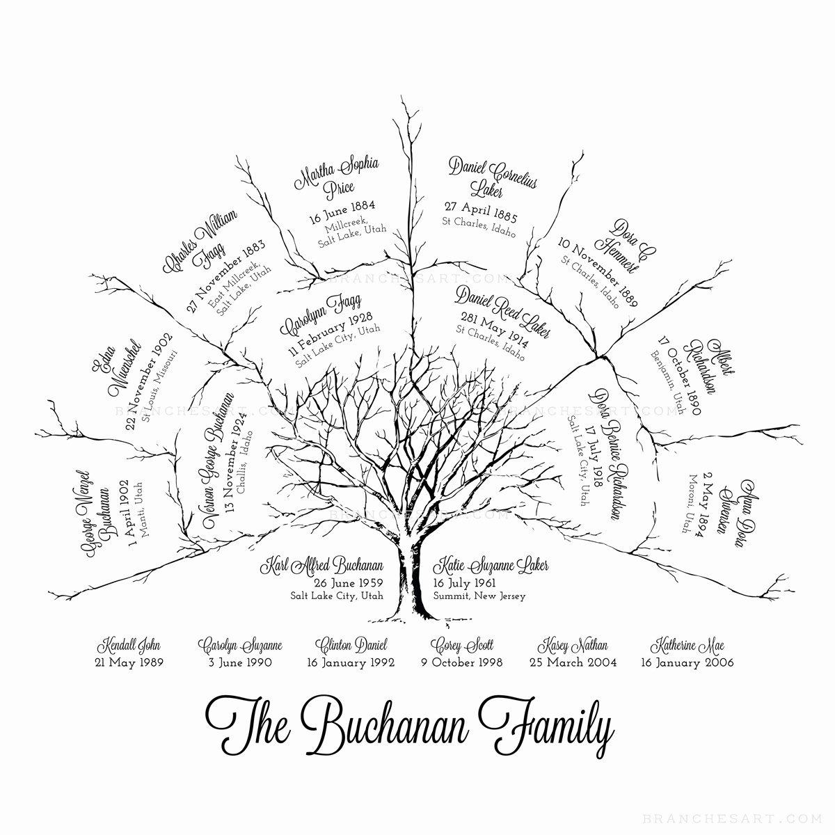 Three Generation Family Tree Unique 3 Generation Ancestor Family Tree – Branches