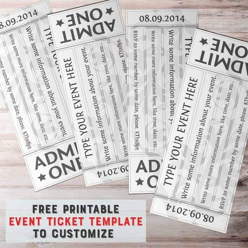 Ticket Template Free Printable Best Of Blank Tickets Template – Unique Raffle Ticket Template