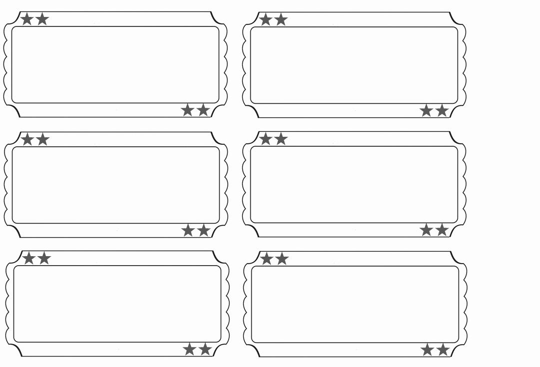 Ticket Template Free Printable Elegant 27 Of Fancy Blank Ticket Template