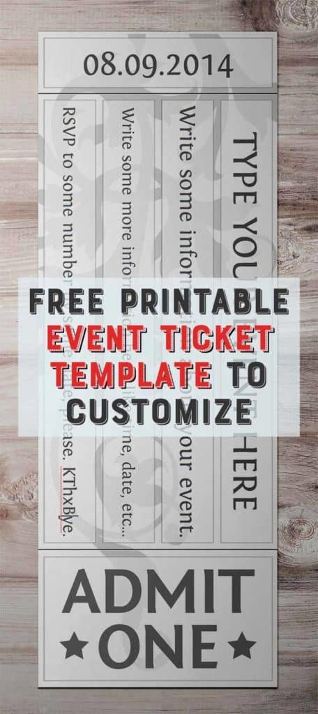 Ticket Template Free Printable Fresh Free Printable event Ticket Template to Customize