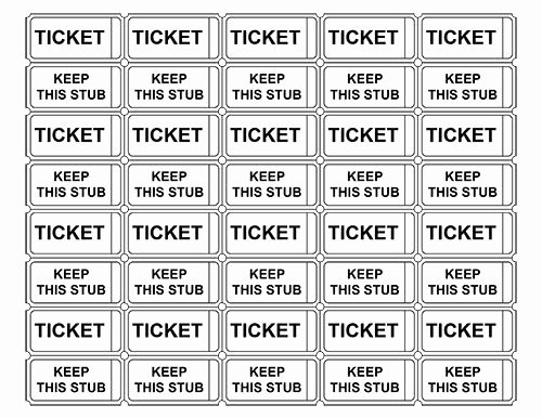 Ticket Template Free Printable Fresh Printable Admission Tickets without Numbers