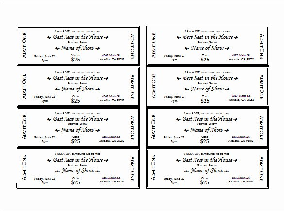 Ticket Template Free Printable New Ticket Templates – 99 Free Word Excel Pdf Psd Eps