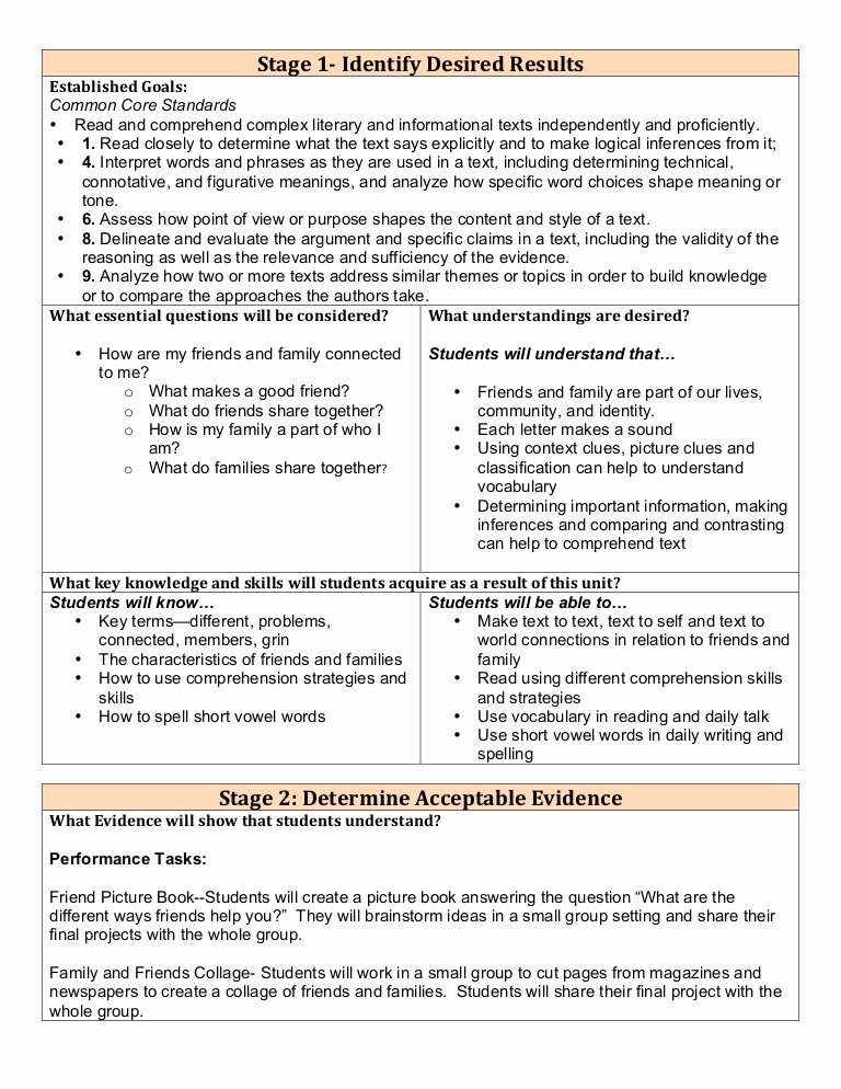 Tiered Lesson Plan Template Lovely Differentiated Lesson Plan 1